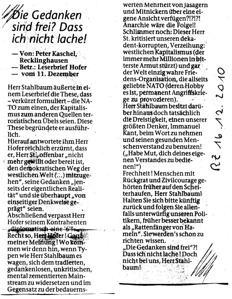 Leserbr. Kaschel gg. Hofer