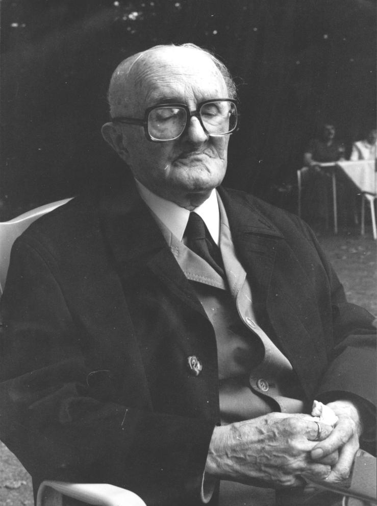 Ernst Schenke im Alter von ca. 85. In Münster ist nach ihm eine Straße benannt. Foto © Dietrich Stahlbaum (um 1980)