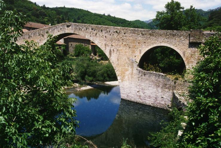 Pont du Diable (13. Jh.) bei Olargues, Espinouse / Languedoc