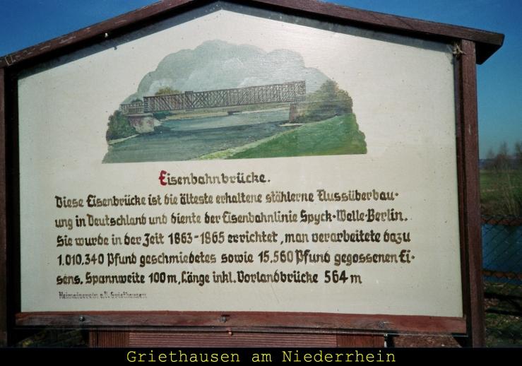 Älteste Eisenbahnbrücke Ds.