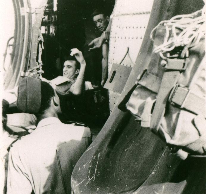 Verwundeter vor Abflug