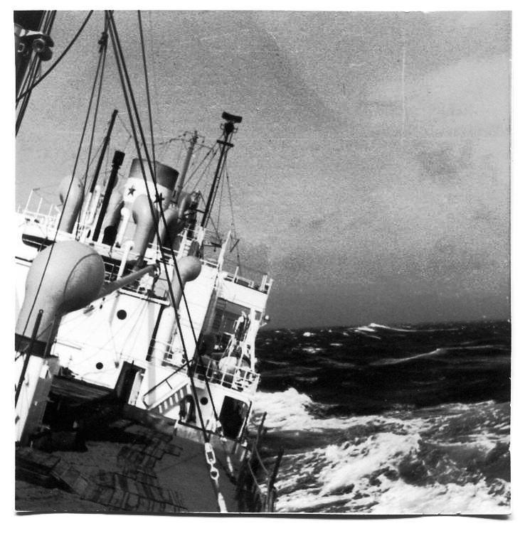 Und auf der Rückfahrt März/April 1954 auf einem Liberty Ship: