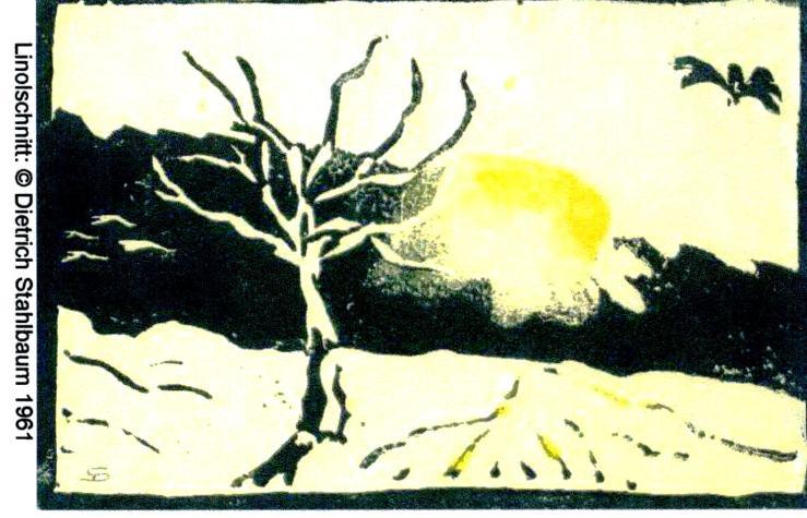Linolschnitt WINTER