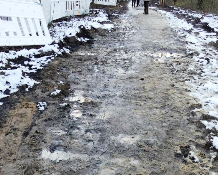Matsch. Winterwanderung am Hullerner See